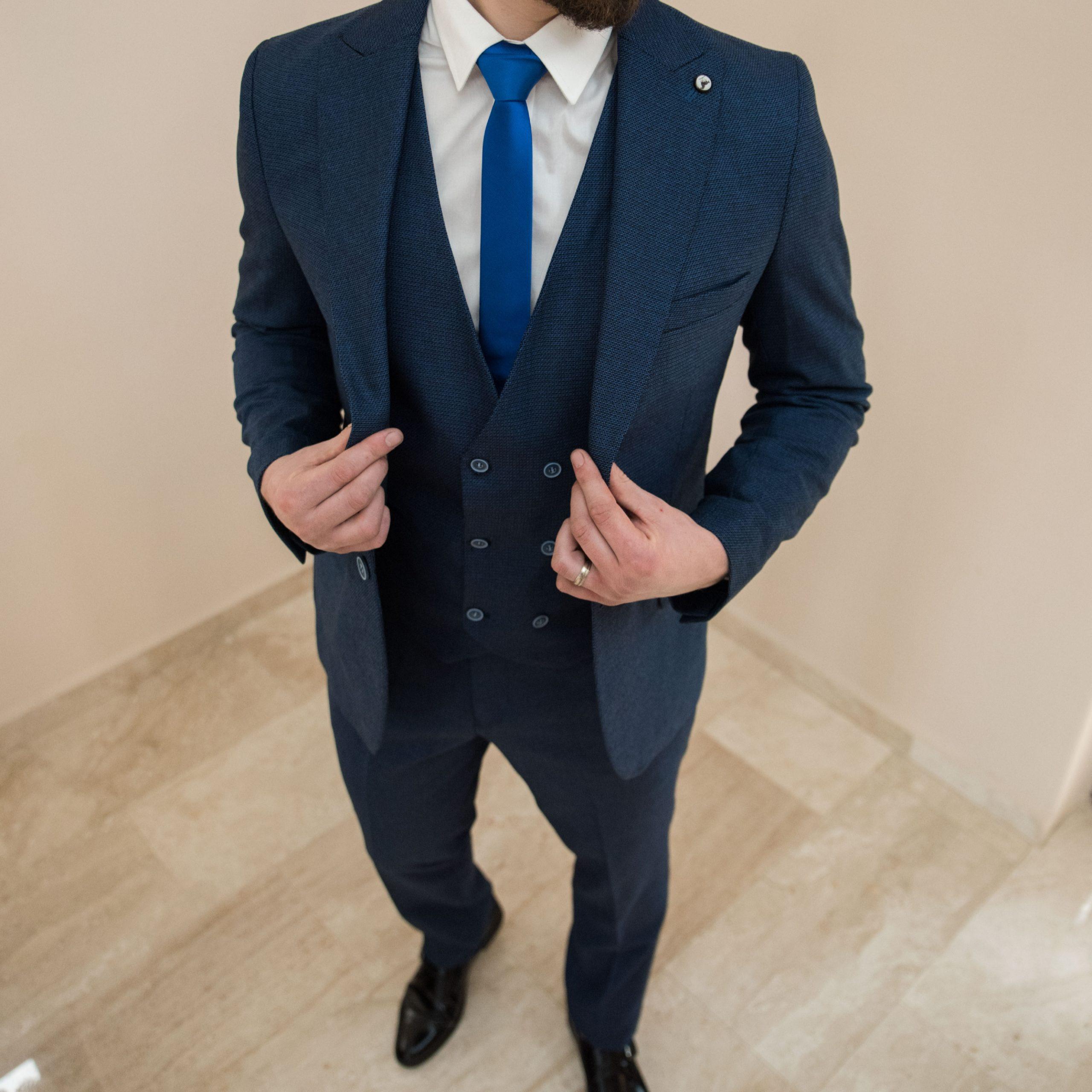 Costum bsrbsti slim fit albastru